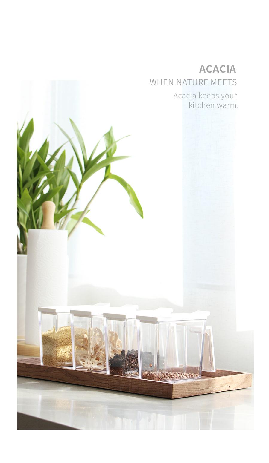 마가렛 양념통 미니4P세트 양념병 양념보관함 - 아카시아, 10,140원, 주방정리용품, 조리통
